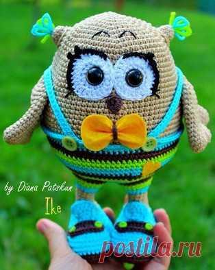 PDF Совёнок Айк. Бесплатный мастер-класс, схема и описание для вязания игрушки амигуруми крючком. Вяжем игрушки своими руками! FREE amigurumi pattern. #амигуруми #amigurumi #схема #описание #мк #pattern #вязание #crochet #knitting #toy #handmade #поделки #pdf #рукоделие #сова #совушка #совунья #совенок #совёнок #owl