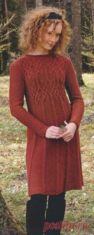 Платье с аранами | Шкатулочка для рукодельниц