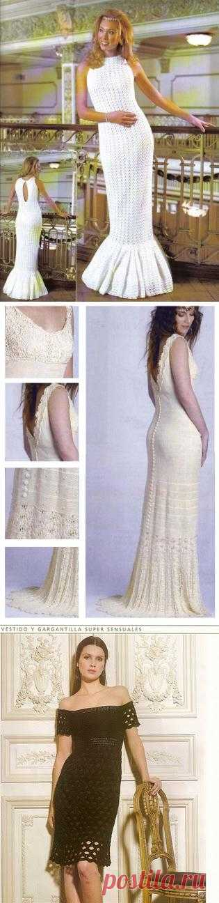 Вяжем крючком шикарные платья. 6 моделей.. Комментарии