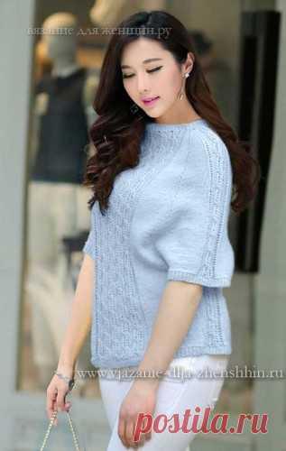 вязаный свитер спицами для женщин схемы вязания свитера с
