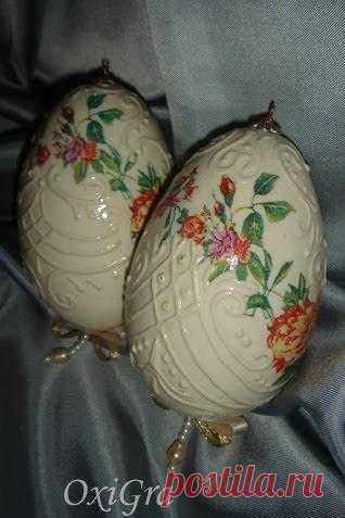 Пасхальные яйца. Дэкупаж.