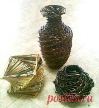 Декор своими руками: оригинальные вазы из обычных газет — Своими руками