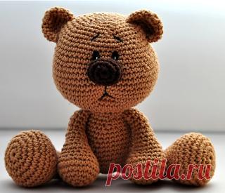 1000 схем амигуруми на русском: Медвежонок Отто