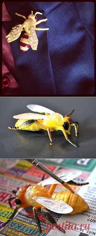 DIY: Bee brooch / Украшения и бижутерия / Модный сайт о стильной переделке одежды и интерьера