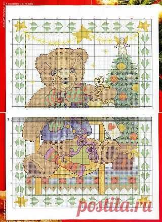 Tita Carré - Agulha e Tricot : Ponto Cruz - Urso