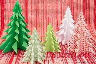 #_Новый_год@club_roditelej #_Мастерская_поделок@club_roditelej   ЁЛОЧКА ИЗ БУМАГИ   Сказочный лес Новогодних елочек из бумаги в технике оригами!