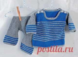 Пуловер в полоску (комплект)