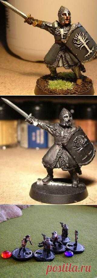 Статуетка древнего воина. такие статуетки можно делать, например из полимерной глины. Можно сделать целую коллекцию воинов разных эпох и народов.