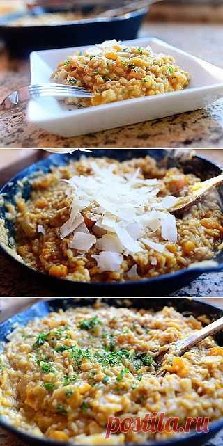 InVkus: Ризотто с тыквой на сливочном масле  Хватит давиться макаронами и полуфабрикатами. Вкусная еда - это просто, быстро и доступно. Вот тебе пошаговые фотографии и рецепт.
