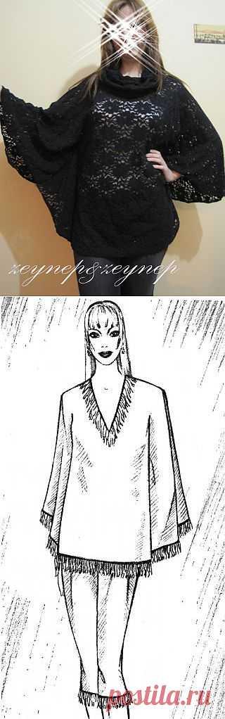 Выкройки пончо (пелерин) (подборка) / Простые выкройки / Модный сайт о стильной переделке одежды и интерьера