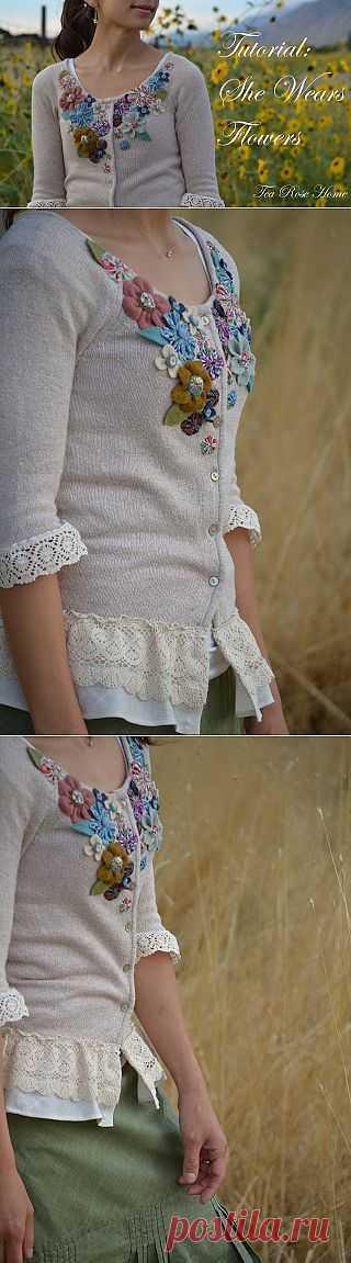 Новая жизнь винтажного кардигана (МК) / Декор / Модный сайт о стильной переделке одежды и интерьера