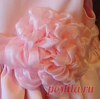 Цветок - букет из органзы, МК | СВОИМИ РУКАМИ