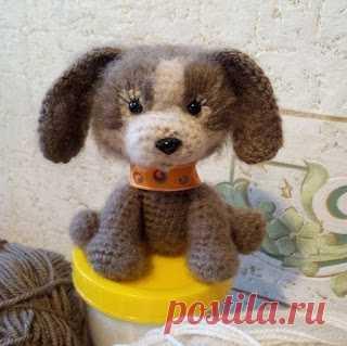 1000 схем амигуруми на русском: Собачка игрушка крючком