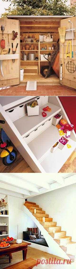 Все на своем месте: организация пространства и хранение вещей. Подборка 40 идей.