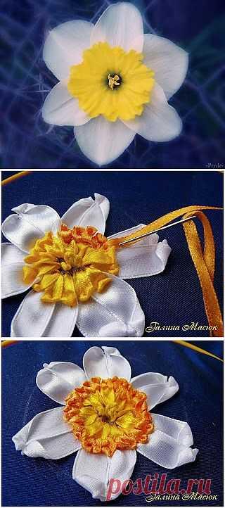 Уроки вышивки лентами от Галины Масюк / Вышивка лентами / PassionForum - мастер-классы по рукоделию