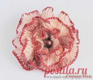 """Необычный цветок - необычным способом вязания: Дневник группы """"Все в ажуре... (вязание крючком)"""" - Страна Мам"""
