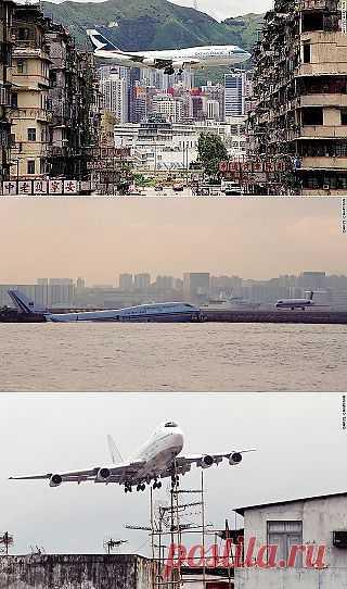 InVkus: Каи Так - самый экстремальный аэропорт мира. Захватывающие фотографии и видео.