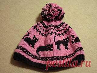 Yano4ka hat with cats: Ravelry