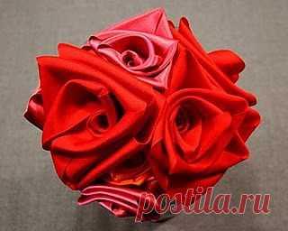 МК цветы из лент / Цветы из ткани / PassionForum - мастер-классы по рукоделию