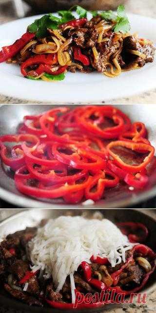 InVkus: Говядина со сладким перцем в соевом соусе пошаговый рецепт с фотографиями