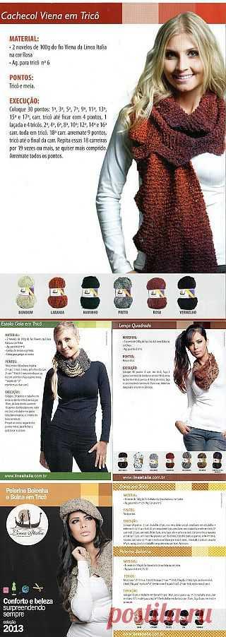Tita Carré - Agulha e tricot by Tita Carré: Cachecol em tricot - vários