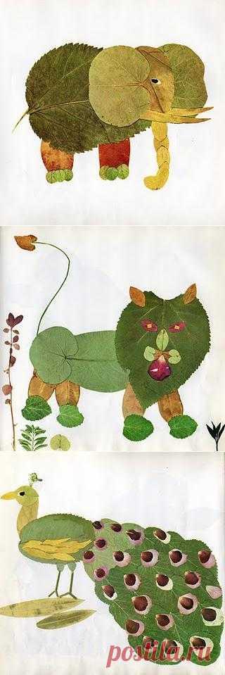Детские поделки - Нескучный гербарий
