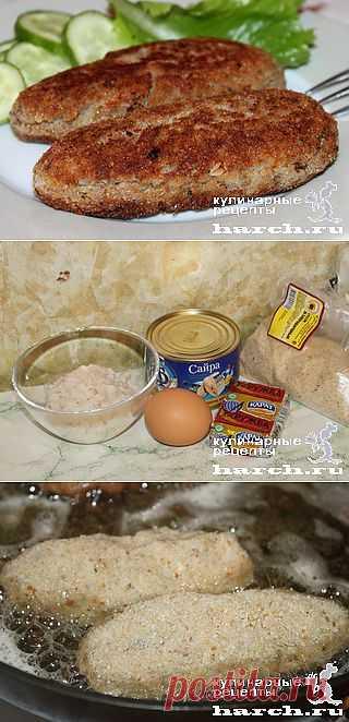 """Биточки из консервированной рыбы """"Одесские""""."""
