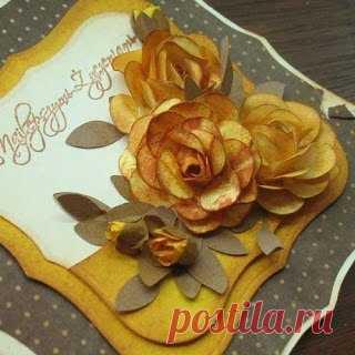 Бумажные цветы ручной работы