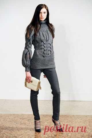 Красивый свитер Модная одежда и дизайн интерьера своими руками