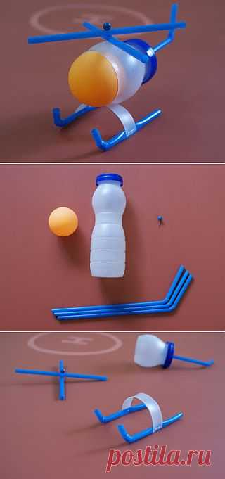(+1) - Вертолетик из пластиковой бутылки | СВОИМИ РУКАМИ