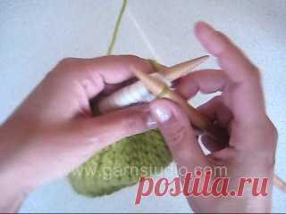 Укороченные ряды. Различные способы вязания.