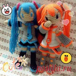 We knit amigurum: Doll to Mick Hatsune