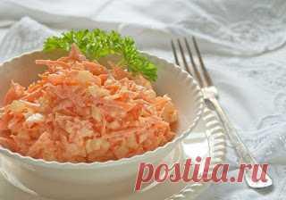Самые вкусные рецепты: Морковный салат с яйцом