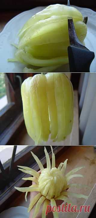 Цветок из сладкого перца