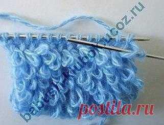 Узор Мехили махровое вязание