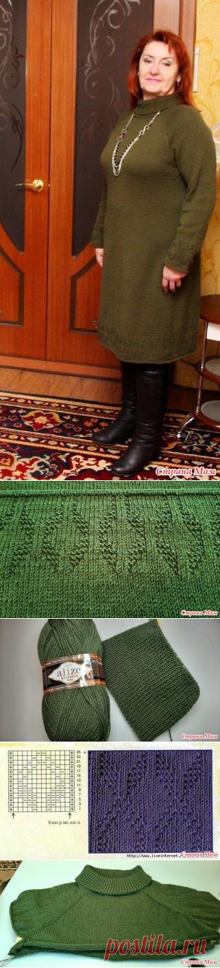 Платье цвета хаки - Вязание - Страна Мам