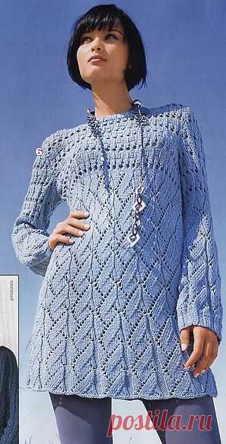 Вязание-спицы Туника.