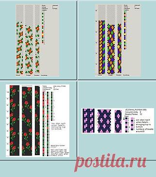 Schlauchketten Häkeln Musterbibliothek бисероплетение постила