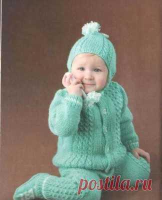 вязание спицами для детей от 0 до 3 лет с описанием и схемами для