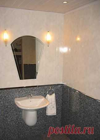 Отделка пластиковыми панелями.Как производится монтаж панелей ПВХ в ванной