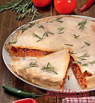 Рецепт итальянского мясного пирога.