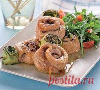 Кефаль с кабачками на шпажках, второе блюдо. Пошаговый рецепт с фото на Gastronom.ru