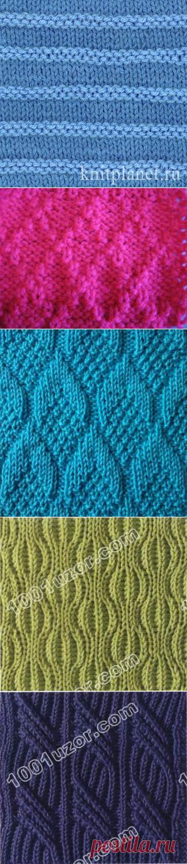 Простые узоры для вязания спицами (подборка из интернета) — Кладовочка идей