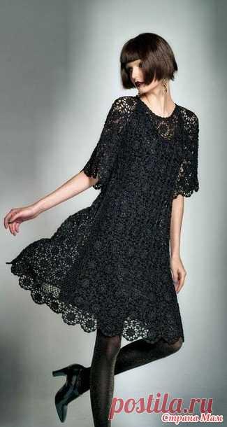 . Шелковая фантаазия. Черное ажурное платье. - Все в ажуре... (вязание крючком) - Страна Мам