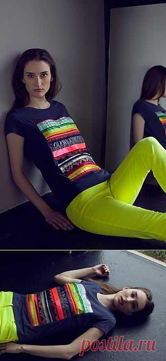 Ленты на футболке / Декор / Модный сайт о стильной переделке одежды и интерьера