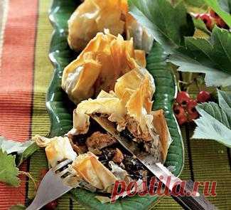 Мешочки с индейкой и бри, закуска. Пошаговый рецепт с фото на Gastronom.ru