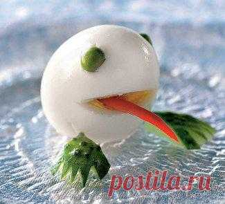 «Лягушка» из яйца, украшения блюд. Пошаговый рецепт с фото на Gastronom.ru