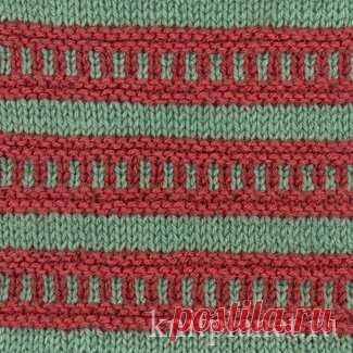 Planet of Knitting   Multi-color pattern No. 1. Scheme of knitting of a pattern spokes