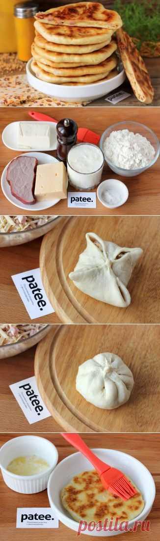 Лепёшки с ветчиной и сыром - рецепт с фотографиями