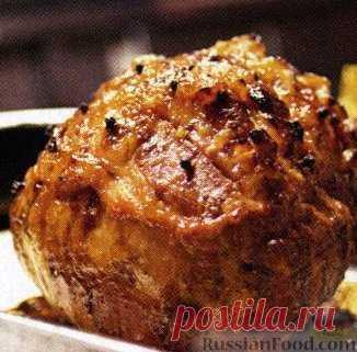 Рецепт: Мясо запеченное на RussianFood.com